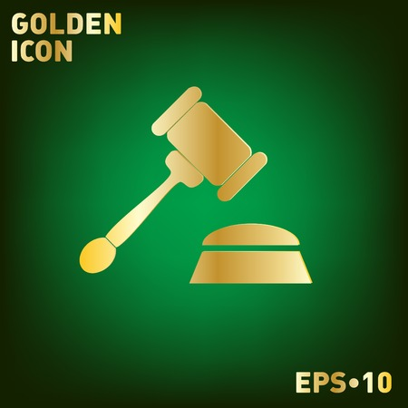 punish: gavel . icon law. symbol of justice and judgment.