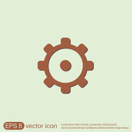 gear icon: cogwheel, icon setting and repair, symbol settings.