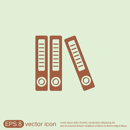 archivi: cartelle ufficio con carte e documenti, Archivi folder icon Vettoriali
