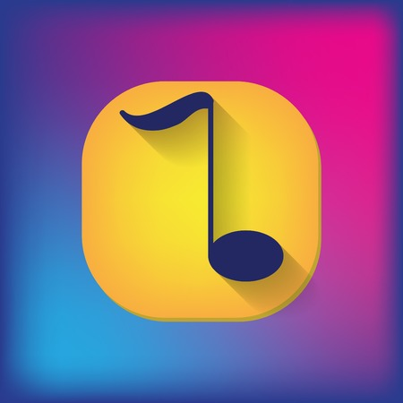 key signature: musical note sign. character singing and the music industry