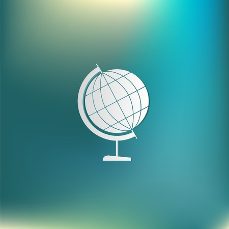 geography: globe symbol of geography. symbol icon geography , the study of the world and the countries on the planet Earth