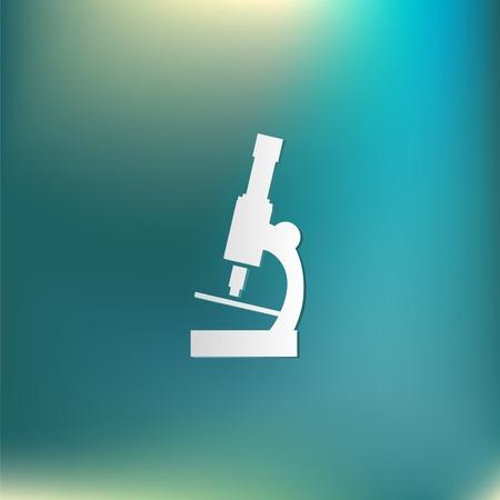 enlarged: Microscopio segno. simbolo icona lo studio della biologia o la medicina. immagine ingrandita Vettoriali