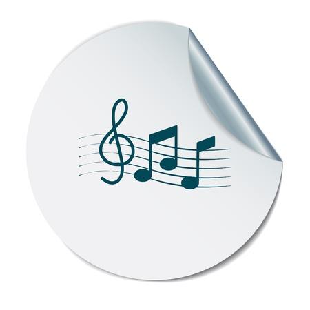 musicality: Note musicali e chiave di violino. Simbolo muzykiki. Icona arte e musicalit�