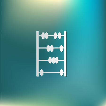 abacus: old retro abacus icon. math sign