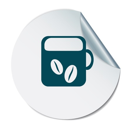 hot drink: Coffee cup or tea symbol icon. Cup of hot drink sign. Symbol of hot drink . Icon cafe or diner.