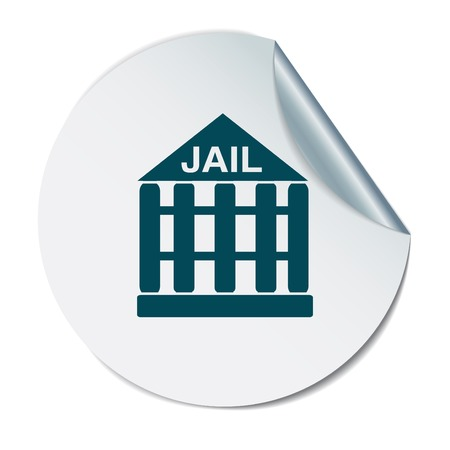 detainee: jail prison icon. symbol of justice . police icon