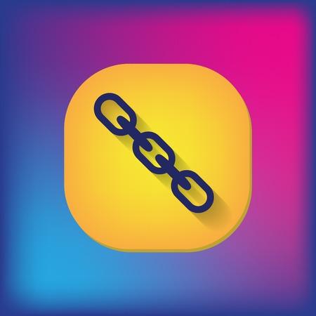 hyperlink: Links, chain icon Illustration