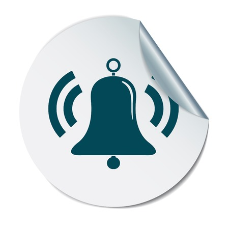 door bell: ring bell icon. Vector illustration