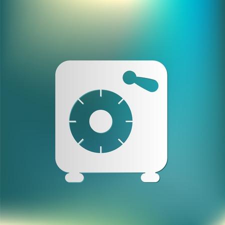 bank vault: bank vault safe icon Illustration
