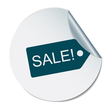 sale sticker: sale label sign sign.