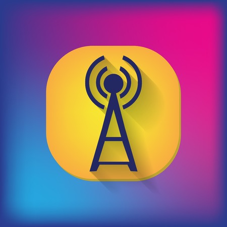 Tower wi fi Vector