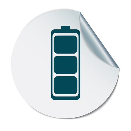 discharges: charged battery. symbol a charged battery. icon energy Illustration