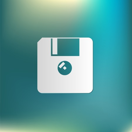 Floppy disk: floppy, diskette. symbol store information document. computer floppy disk icon .