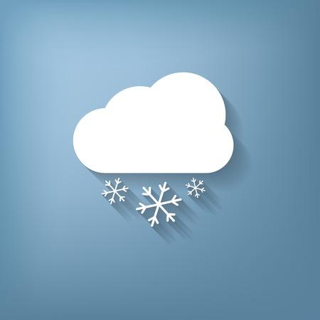 icone du temps, nuage de neige