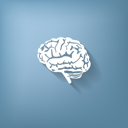 memory: Brain icon. Mind and science Illustration