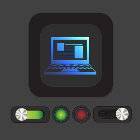 increment: notebook laptop icon. web sign