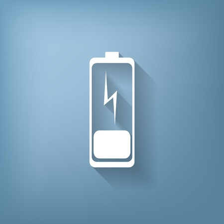 amperage: discharged battery. symbol a discharged battery. icon energy