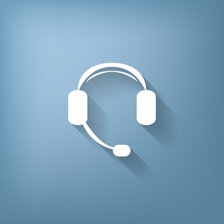 customer support: headphone icon. help sign, customer support avatar Illustration