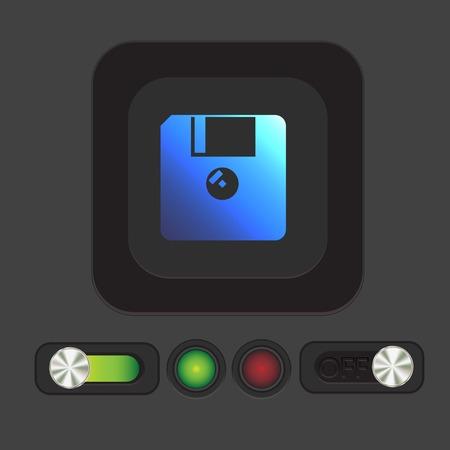 floppy disk: floppy, diskette. symbol store information document. computer floppy disk icon .