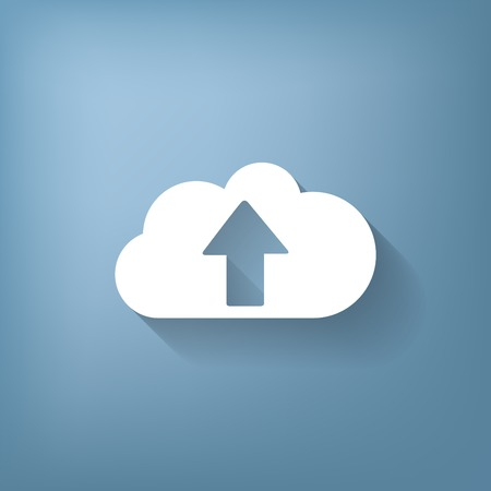 cloud icon: cloud download. icon download files Illustration