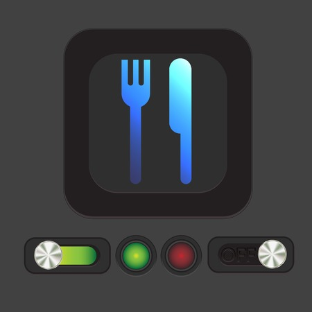 sign symbol: fork and knife sign. symbol lunch . cutlery