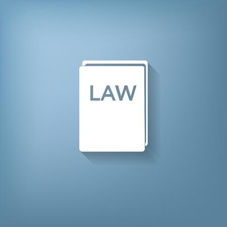 ley: icono de libro de la ley. conjunto de leyes. s�mbolo de la justicia Vectores