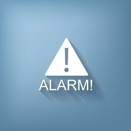 the precaution: Exclamation Sign icon, alarm sign Illustration