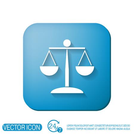 justicia: escalas de la justicia icono. símbolo de la justicia Vectores