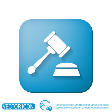 bidder: gavel. icon law. symbol of justice and judgment