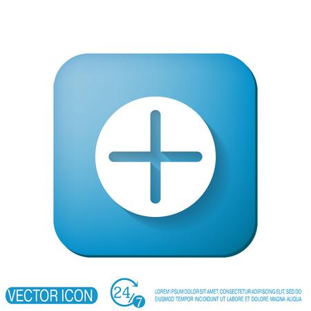positief: Plusteken pictogram. Positief symbool.