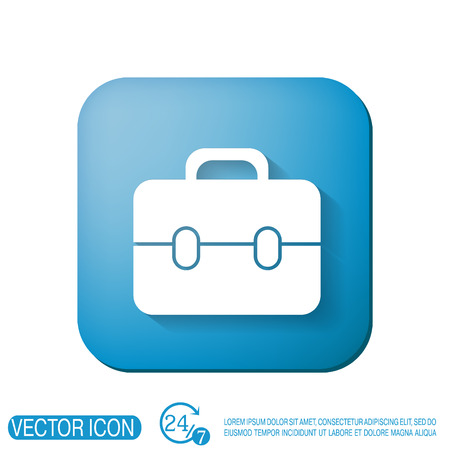 packing suitcase: briefcase symbol Illustration