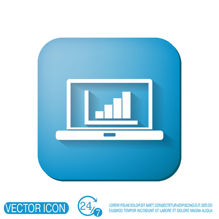 netbook: notebook with symbol diagram Illustration