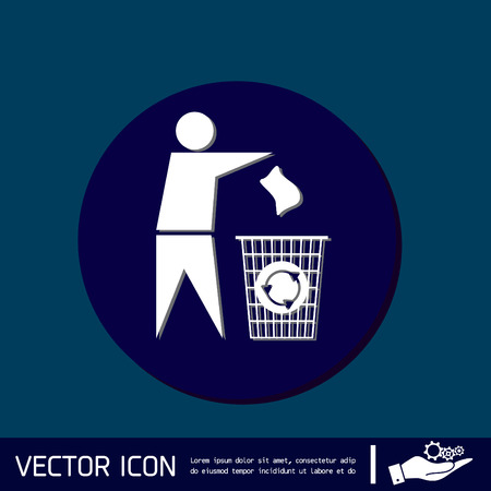 littering: do not litter icon