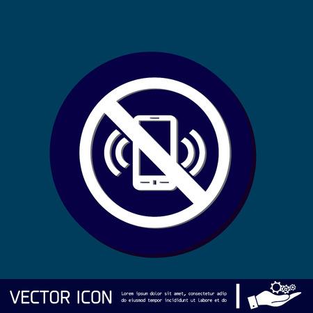 inhibition: forbidden to use phone. forbidding symbol