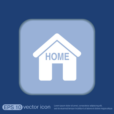 convoluted: House icon. Home sign