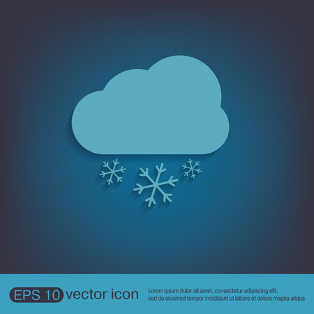 meteorology: weather icon, cloud snow