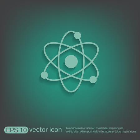 PROTON: atom, molecule. the symbol of physics and chemistry. symbol icon of physics or chemistry . the study of science
