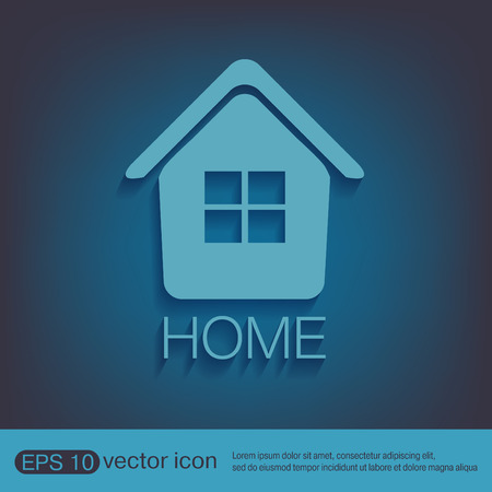 icon home: House icon. Home sign