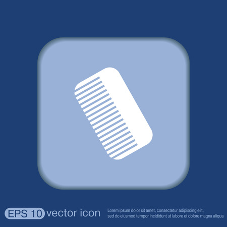 hairdos: comb sign. barbershop. symbol of hair and beauty salon