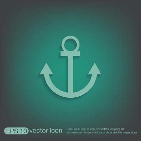 seafaring: Nautical vector del ancla. anclar car�cter marinero. icono instrumento n�utico