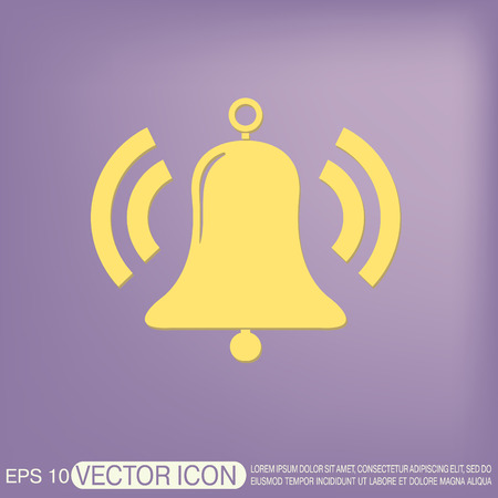 door bell: ring bell icon. Vector illustration EPS. Illustration