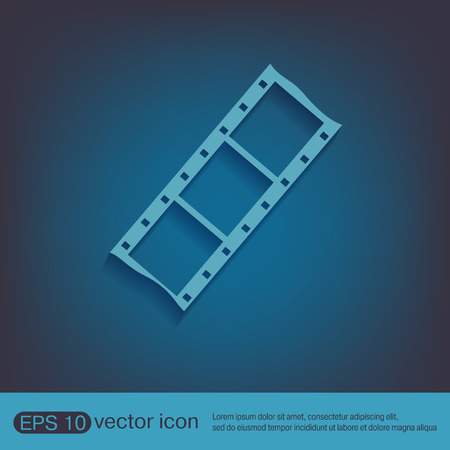 membrane: film sign. symbol of cinema. celluloid
