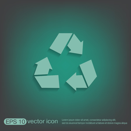 recycle icon: recycle icon. Environmental icon arrow Illustration