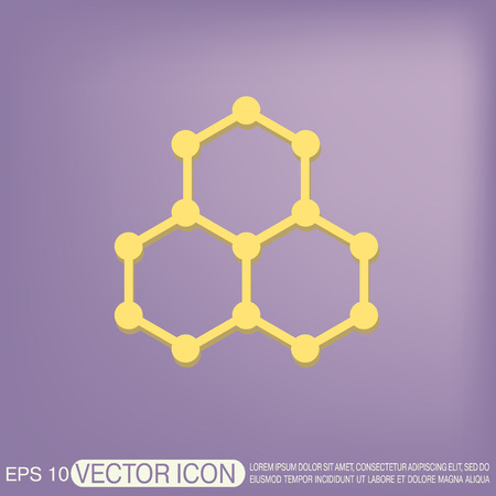 chemical compound: Chemical compound. Symbol chemistry. Icon science