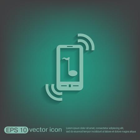 handset: smartphone with the symbol telephone handset.