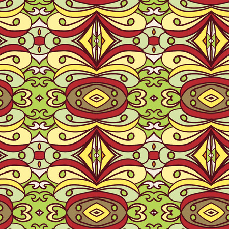 african americans: Abstract seamless ornament pattern. the kaleidoscope effect. Ethnic damask motif. Vintage style pattern. Vector illustration Illustration