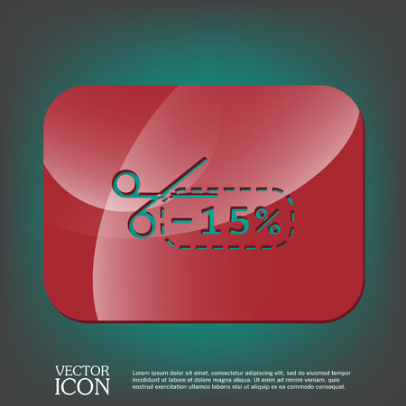 cutoff: discount coupon with scissors sign. symbol icon discounts on merchandise