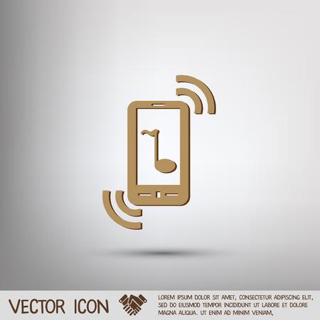telephone handset: smartphone with the symbol telephone handset.