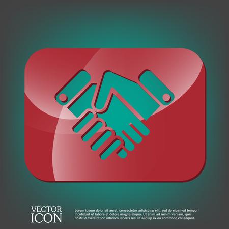 dandose la mano: dar la mano icono, apret�n de manos. s�mbolo de negocios y finanzas