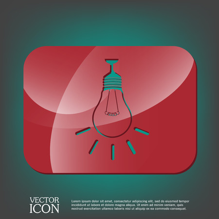 incandescent: lightbulb sign. character ideas. incandescent lamp . icon of electric light